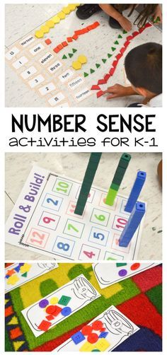Tons of hands-on number sense activities for grades K-1. Great for the beginning…