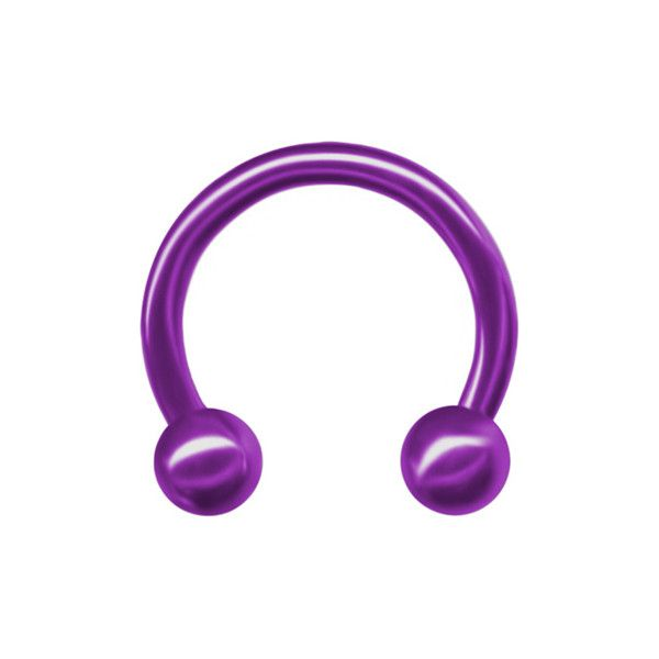 Purple Titanium Circular Barbell-Lip Hoop-Tragus... ($9.97) ❤ liked on Polyvore featuring jewelry, piercings, sexy body jewelry, belly ring jewelry, body jewelry, sexy jewelry and purple jewellery