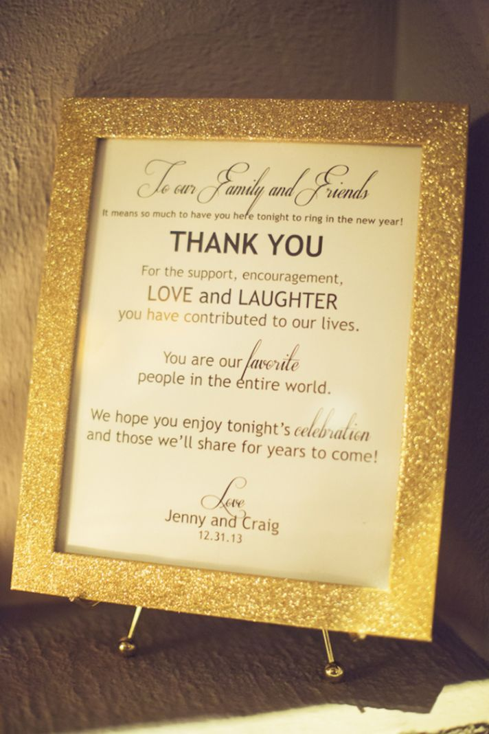 Place this sweet thank you in various places during your wedding. #weddingideas
