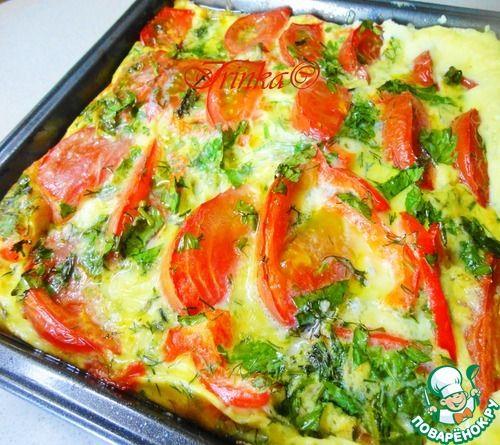 Кабачки в омлете - кулинарный рецепт
