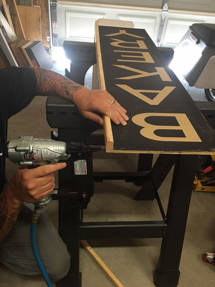 The Speckled Lily   Custom Framing Tutorial   for your silhouette signs     Material List:   1. Nail Gun  2. Nails for Nail Gun  3. Saw  4....