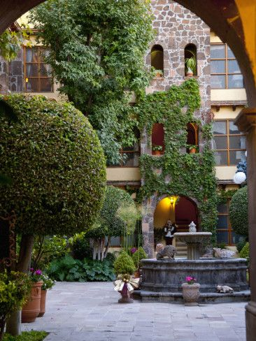 Courtyard - San Miguel De Allende, Mexico