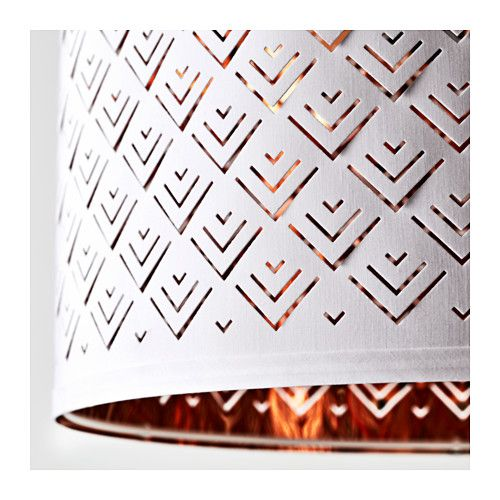 NYMÖ Lamp shade  - IKEA a cute little white/copper lamp shade for the living room