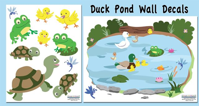 97 best kids wall decals images on pinterest for Duck pond mural