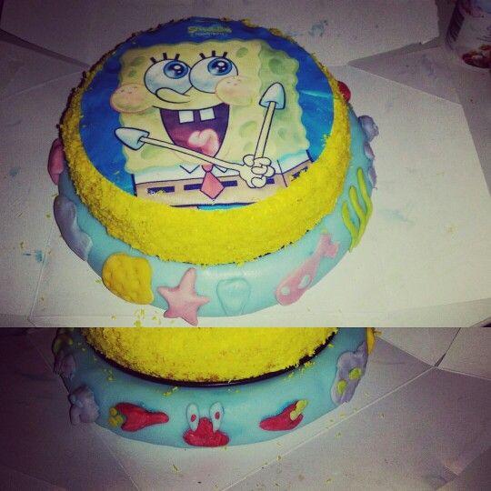 Made for my son #cake#spongebob#birthdaycake#taart#verjaardagstaart#verjaardag