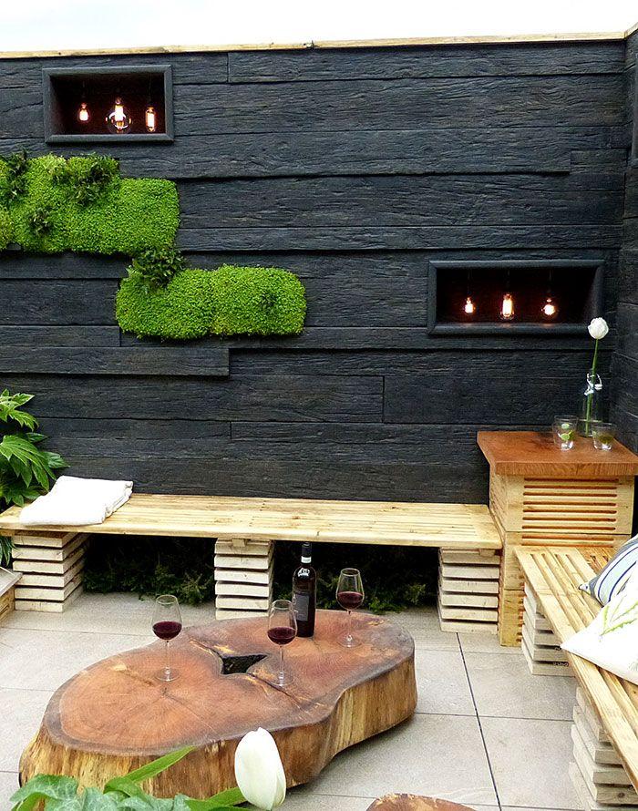 Best 25 small city garden ideas on pinterest small for Sunken outdoor seating