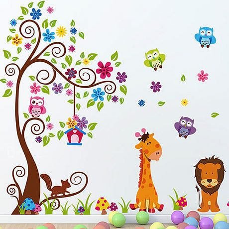 Animals Jungle Lion Monkey Wall Stickers. Wall Decoration StickersRoom  DecorationsKids ...