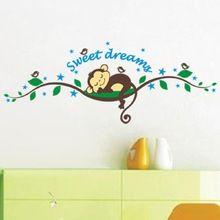 Macaco floresta DIY removível Art Vinyl citação adesivos de parede decalque Mural decoração(China (Mainland))