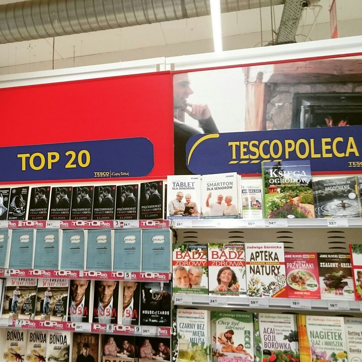 News, Top 20, Tesco Recommends - this way shop has many options to charge books suppliers for shelves space.
