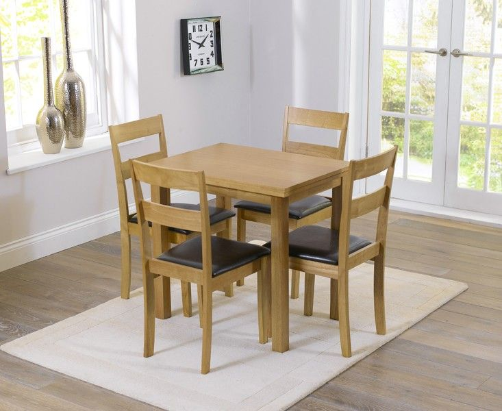 Buy the Hastings 60cm Extending Dining Table and Chairs at Oak Furniture Superstore