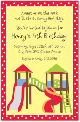 Play Park Kids Party Invitations MyExpression