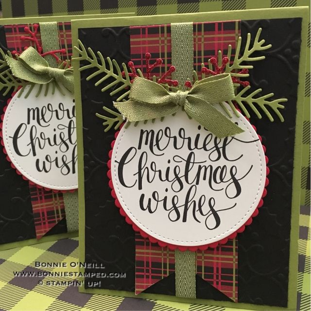 #prettypines #watercolorchristmas #bonniestamped #christmascardclub #stampinup