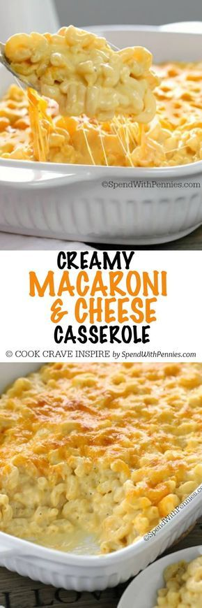 This Creamy Macaroni and Cheese Casserole is a show stopper! It's easy to make with tons of rich cheese sauce and a secret ingredient making it extra delicious!