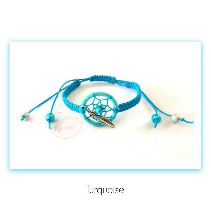 Dream catcher macrame bracelet, various colours