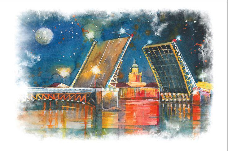 Дворцовый мост - Почтовые открытки для посткроссинга. Интернет-магазин почтовых открыток. Postcrossing Shop.
