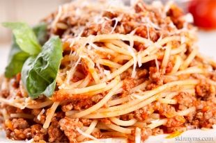 Slow Cooker Cheesy Spaghetti with Turkey Sausage copy