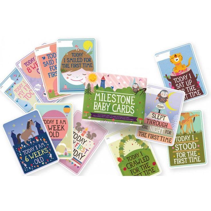 169:- Ekologiska Leksaker & Produkter för Barn & Föräldrar Milestone baby cards (fotokort) - FSC-märkt papper, miljövänligt tryck - Ekologiskt & Giftfritt - Rekolek