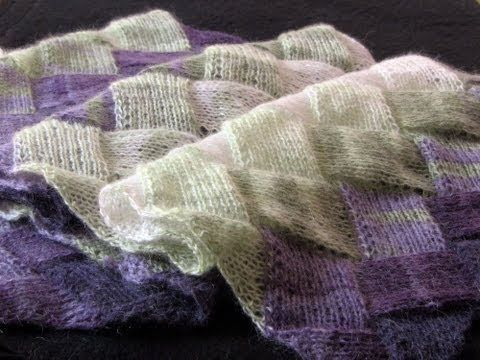 ▶ Learn to Knit Entrelac: Part One - YouTube