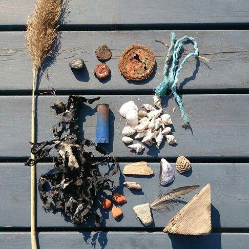 Beach finds moodboard