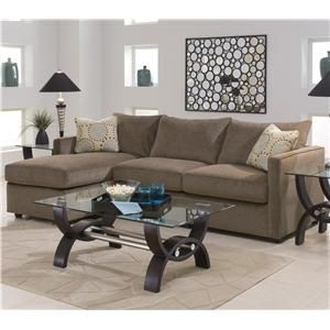 Klaussner Bowan Sectional Sofa With Left Side Chaise Lounger At J U0026 J  Furniture