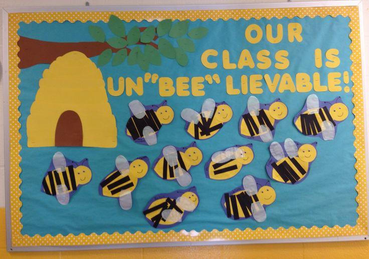 Preschool School Bulletin Board Spring Bumble Bee