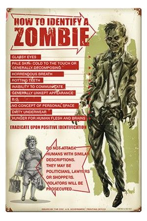 How To I.D. A Zombie Metal Sign @Baylie Wright @Taryn Spivey