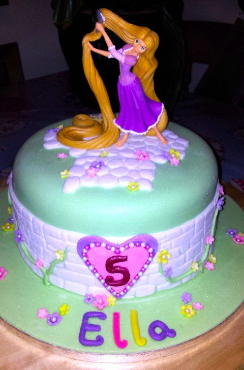 A picture of Ella's Rapunzel Cake
