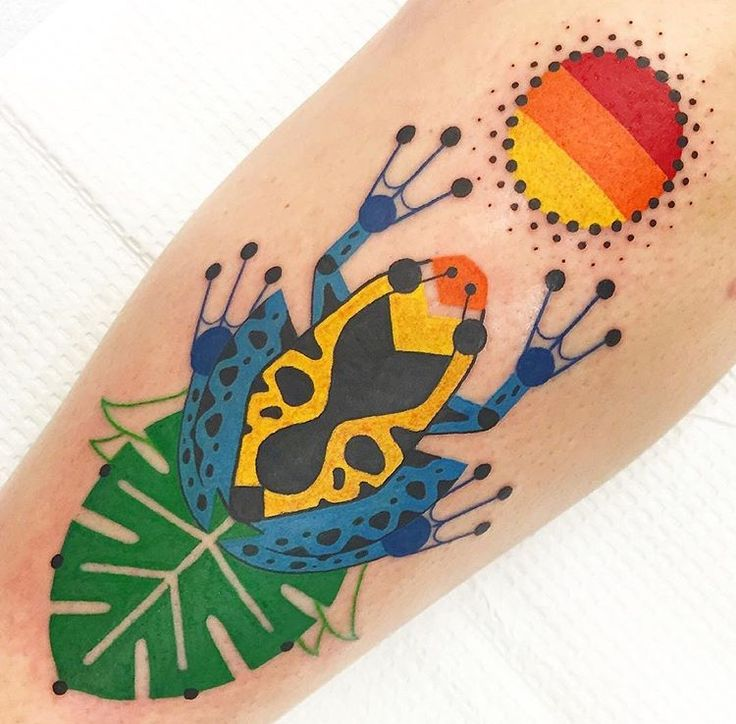 Winston the whale frog tattoo