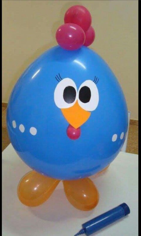 Globo gallina azul