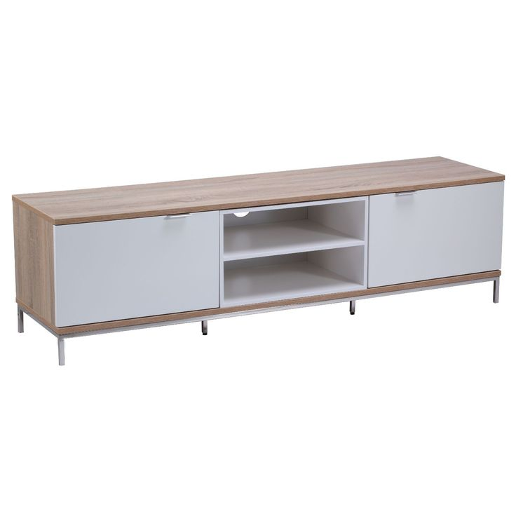 The Chaplin TV Cabinet range boasts modern furniture styles and ample storage facilities.  It features a range of sizes and styles designed to fit into any home decor. Made from high quality and hard wearing melamine with custom aluminium handles, set on strong stainless steel legs, the Chaplin is a strong as it is beautiful and is sure to last over a number of years. This TV Stand is compatible with the UNIFIT TV Bracket.Please Note: UNIFIT TV Bracket sold separately