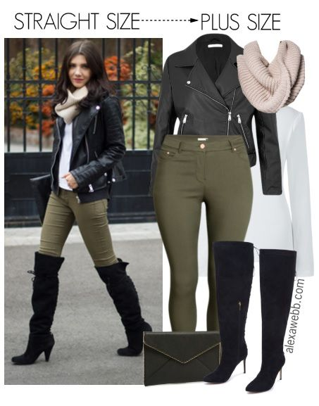 Straight Size to Plus Size – Over-the-Knee Boots Outfit