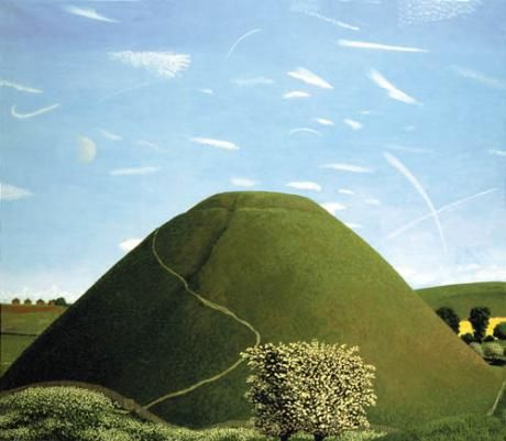 David Inshaw - Silbury Hill In May