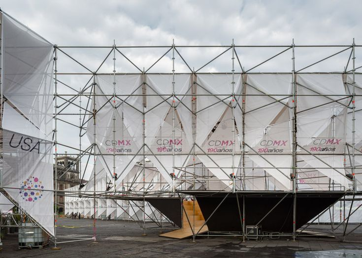 It took three and a half days to erect this temporary 6,000-square-metre structure in Mexico City's Zócalo plaza