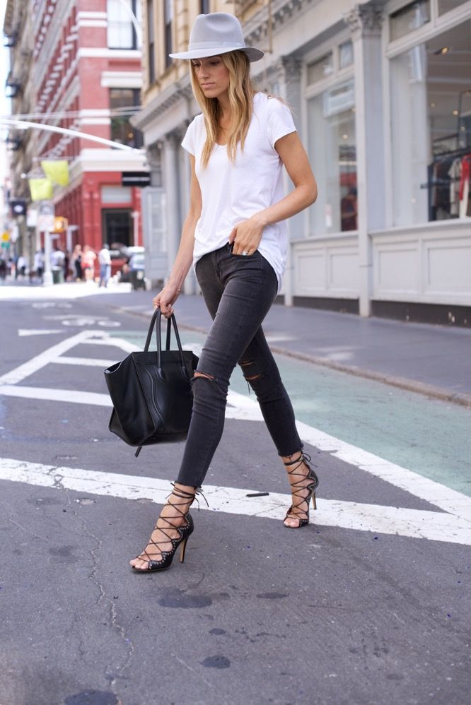 Soho Streetstyle in J Brand Jeans and White Tee