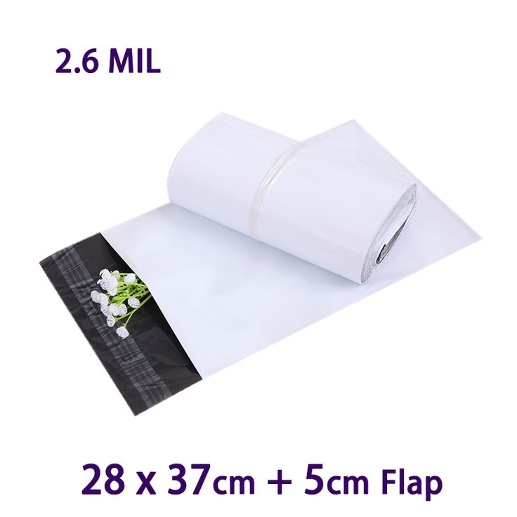 25 PCS 28x37cm White Self Seal Poly Mailer Postal Envelopes Packaging Shipping Bags Envelope Plastic Mailing Bag #Affiliate