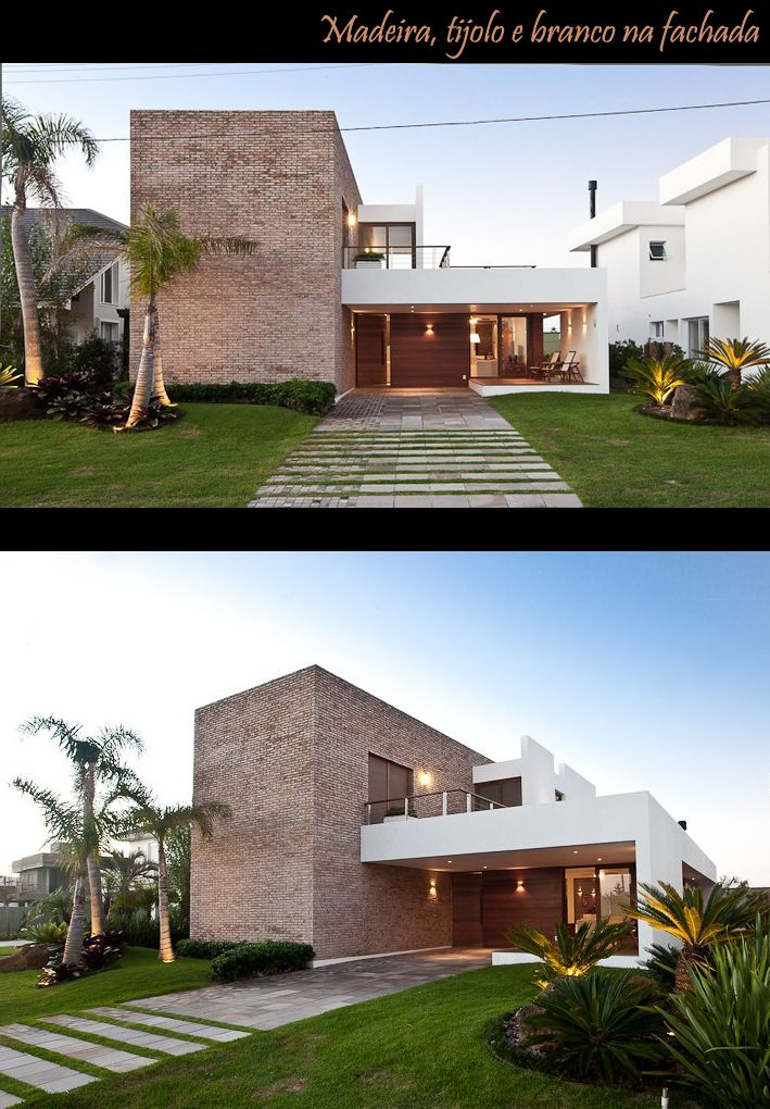 Arquitetura.idEA: PROJETO DE ARQUITETURA - TIJOLO NA FACHADA