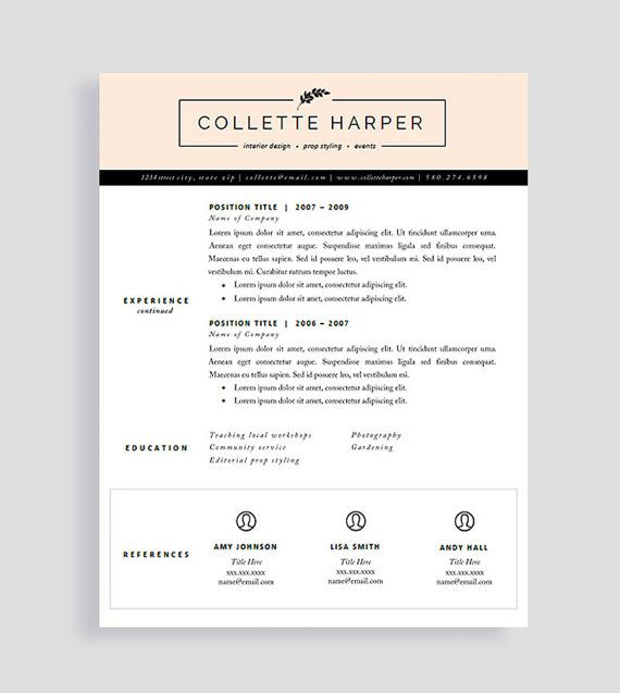 44 best Resume Templates images on Pinterest Cv resume template - introduction letter for resume