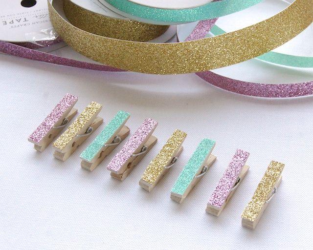 Omiyage Blogs: 5 Minute DIY - Glitter Clips