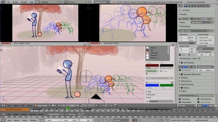 Blender 2.73 New Grease Pencil ToolComputer Graphics & Digital Art Community for Artist: Job, Tutorial, Art, Concept Art, Portfolio