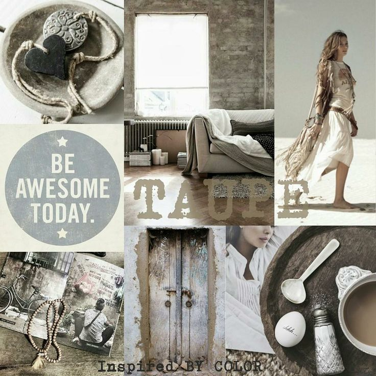 Pimpelwit : color inspiration - taupe. Inspired BY COLOR #ankemosselman