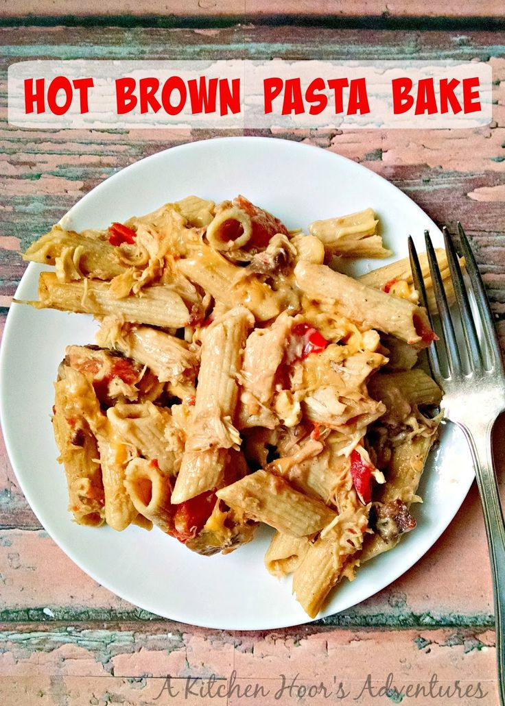 Hot Brown Pasta Bake - Think, mac 'n cheese with turkey, bacon and tomatoes. It will be your new favorite leftovers recipe!