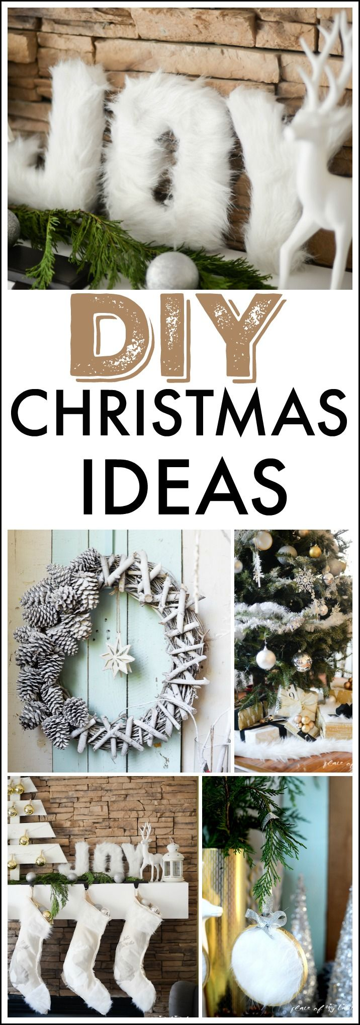 Find a great deal of amazing DIY Christmas ideas to make the preparation for the holidays even more meaningful and to try your creative side.