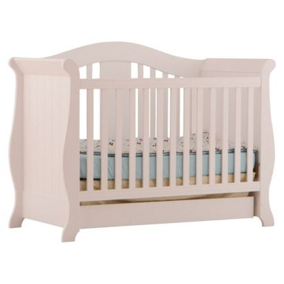 Stork Craft Vittoria 3 in 1 Fixed Side Convertible Crib - White
