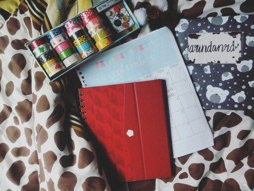 My nu journal. The redbook.  #planner #bujour #bulletjournal