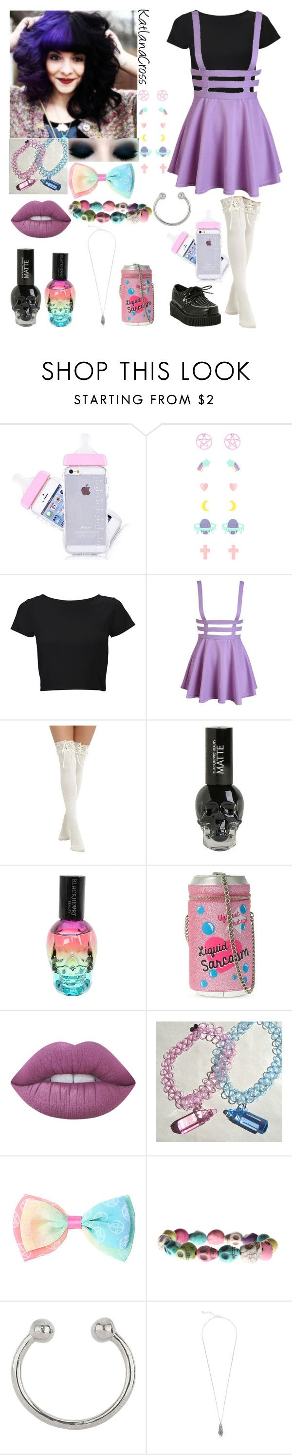 """A Day with Melanie Martinez"" by katlanacross ❤ liked on Polyvore featuring Lipsy, Skinnydip, Lime Crime, Miss Selfridge, contestentry, melaniemartinez and ADayWith"