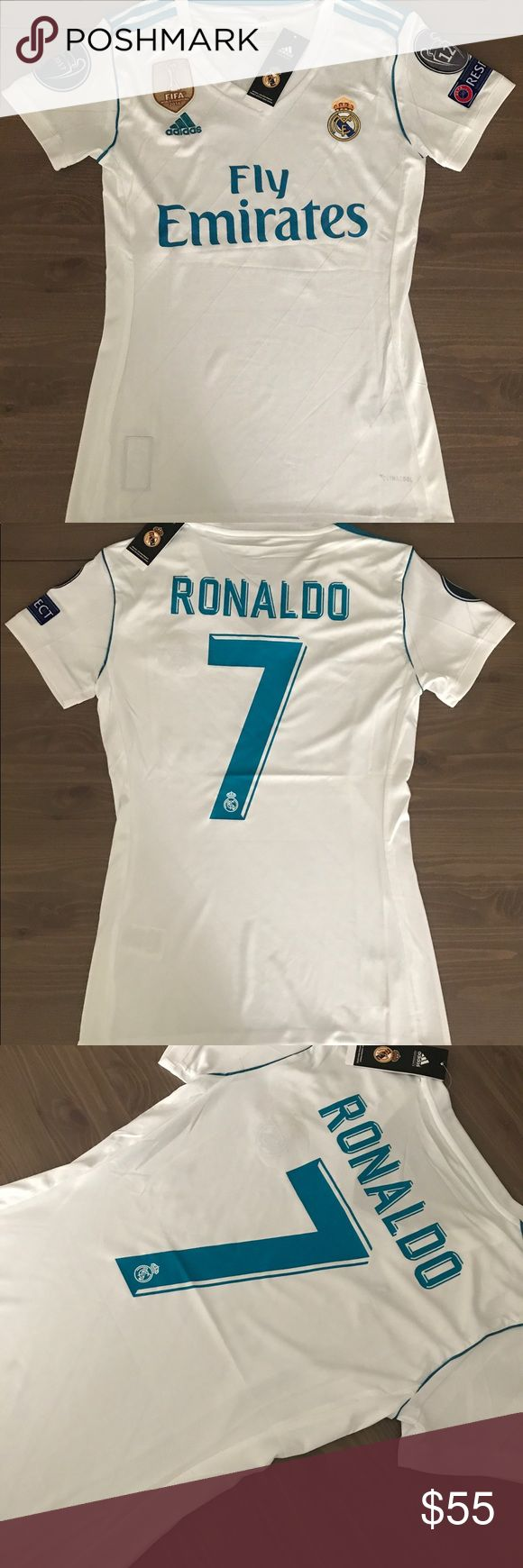 Women Real Madrid Ronaldo #7 soccer jersey adidas Women Real Madrid Ronaldo #7 soccer jersey adidas Champions league adidas Tops Tees - Short Sleeve