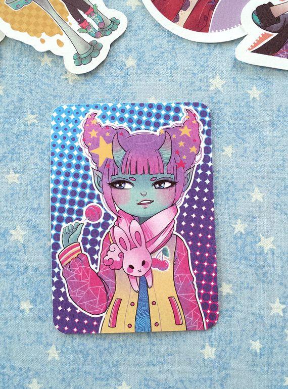 Candy Demon Girl Sticker