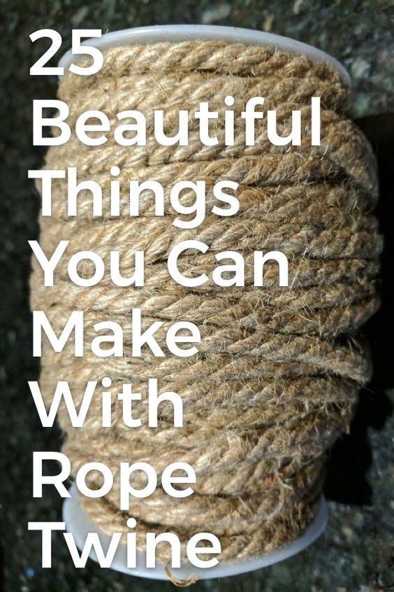 25 schöne Dinge, die Sie mit Seil und Schnur machen können