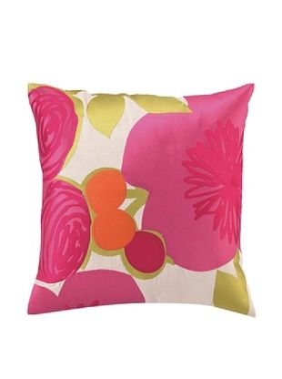 Trina Turk Multi Floral Embroidered Pillow (Pink)