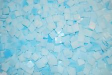 "100 1/2"" Blue Clouds Tumbled Stained Glass Mosaic Tiles"